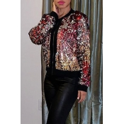 Lovely Trendy Sequined Decorative Multicolor Coat