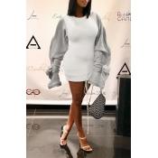 Lovely Trendy Patchwork White Mini Dress