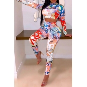 Lovely Street Printed Multicolor Two-piece Pants S