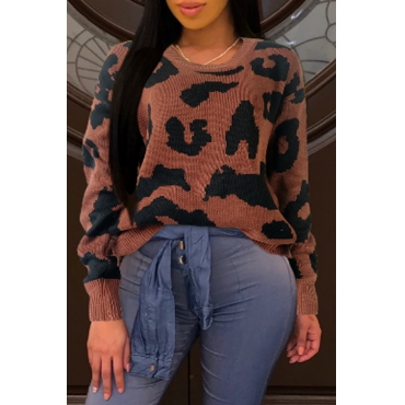 Lovely Leisure Patchwork Caramel Color Sweaters