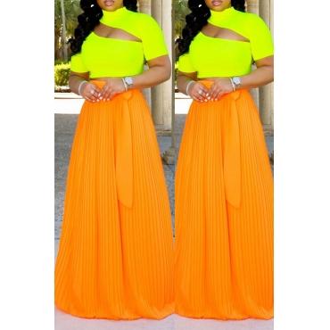 Lovely Casual Ruffle Design Croci Skirt