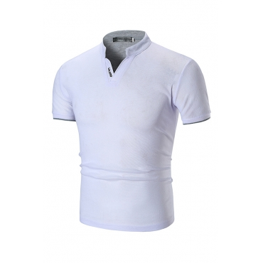 Lovely Casual White Polo Shirt