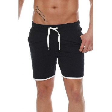 Lovely Casual Mid Waist Black Short