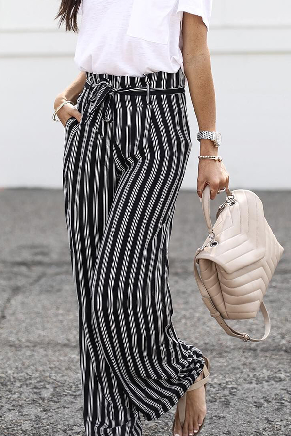 Lovely Casual Striped Pants