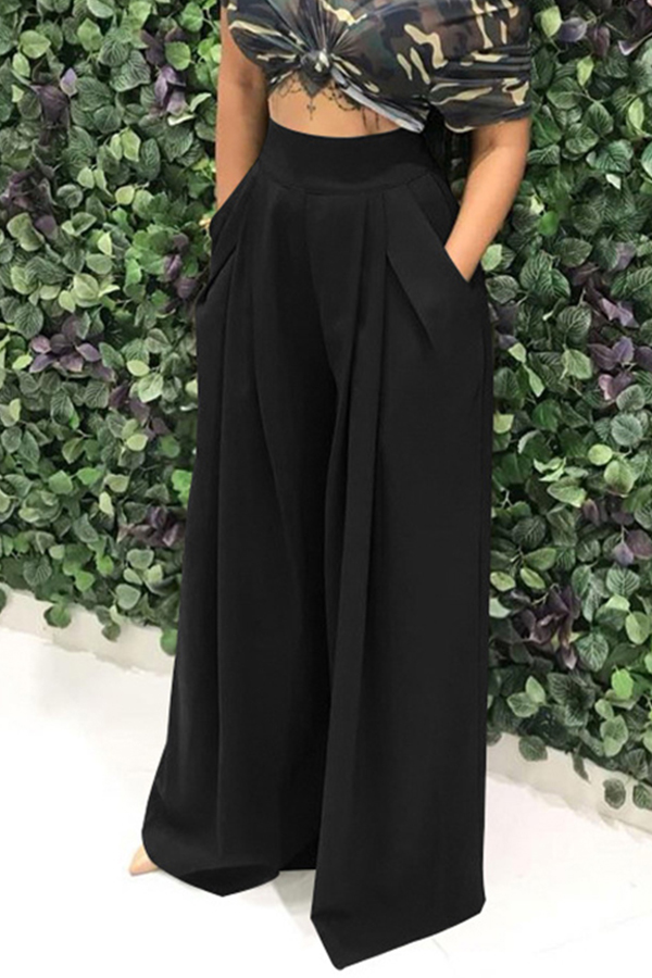 Lovely Work Loose Black Pants