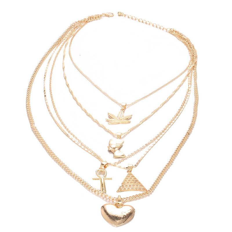 Lovely Trendy Gold Alloy Necklace