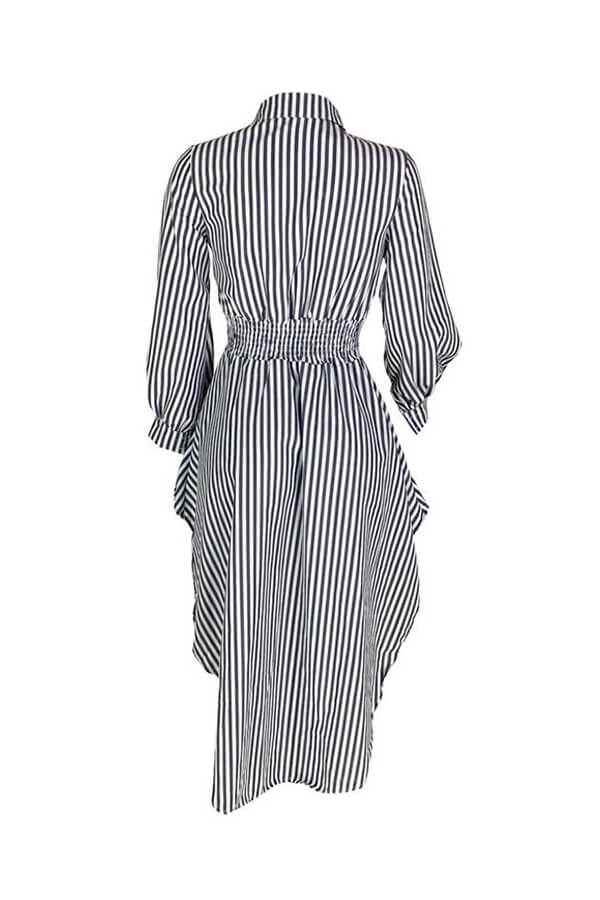 Lovely Work Striped Black And White Blouse