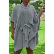 Lovely Trendy Cloak Design Apricot Cardigan