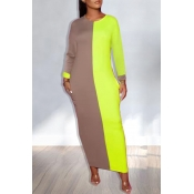 Lovely Leisure Patchwork Green Ankle Length T-shir
