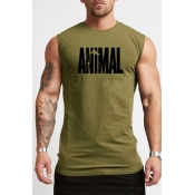 Lovely Casual Printed Army Green Vest