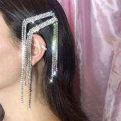 Lovely Casual Tassel Design Silver Alloy Hairpin
