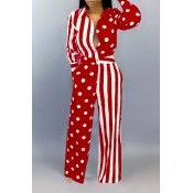 Lovely Casual Printed Red One-piece Jumpsuit