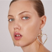 Lovely Trendy Hollow-out Silver Alloy Earring