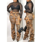 Lovely Casual Leopard Printed Pants
