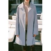 Lovely Trendy Grey Trench Coat