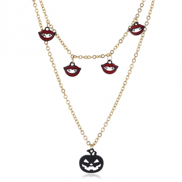 Lovely Chic Pumpkin Gold Necklace
