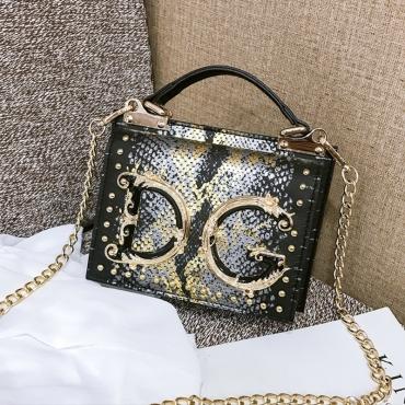 Lovely Chic Letter Black Messenger Bag