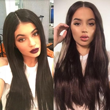 Lovely Chic Straight Black Wigs