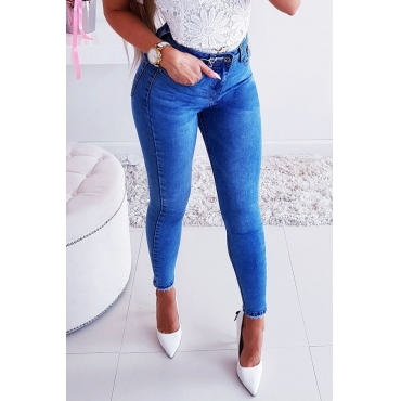 Lovely Leisure Skinny Royal Blue Jeans