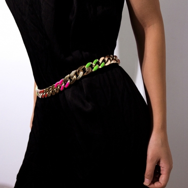 Lovely Trendy Hollow-out Multicolor Alloy Body Chain