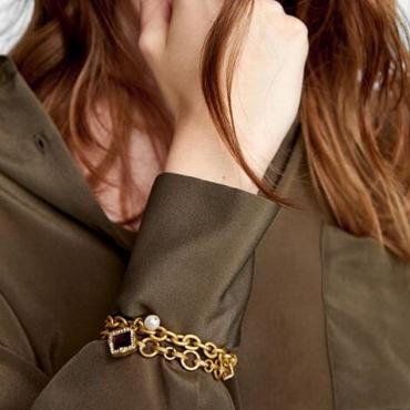 Lovely Trendy Hollow-out Gold Alloy Bracelet