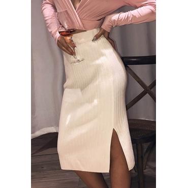 Lovely Trendy Basic White Knee Length Skirt