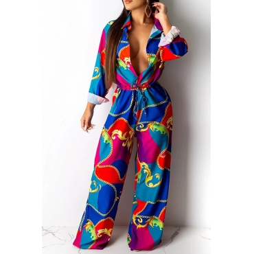 Lovely Trendy Printed Multicolor One-piece Jumpsuit