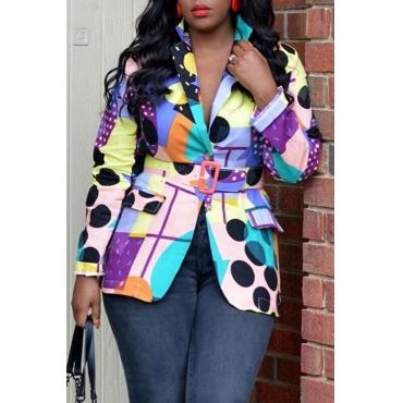 Lovely Chic Dot Printed Multicolor Blazer