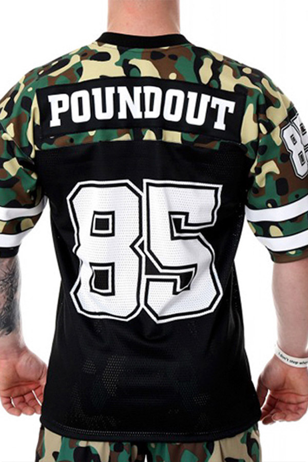 Lovely Sportswear Printed Army Green T-shirt