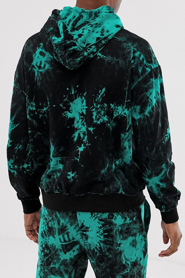 Lovely Casual Hooded Collar Green Hoodie