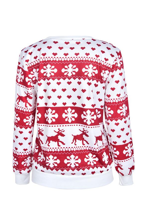 Lovely Christmas Day Printed Red Sweatshirt Hoodie