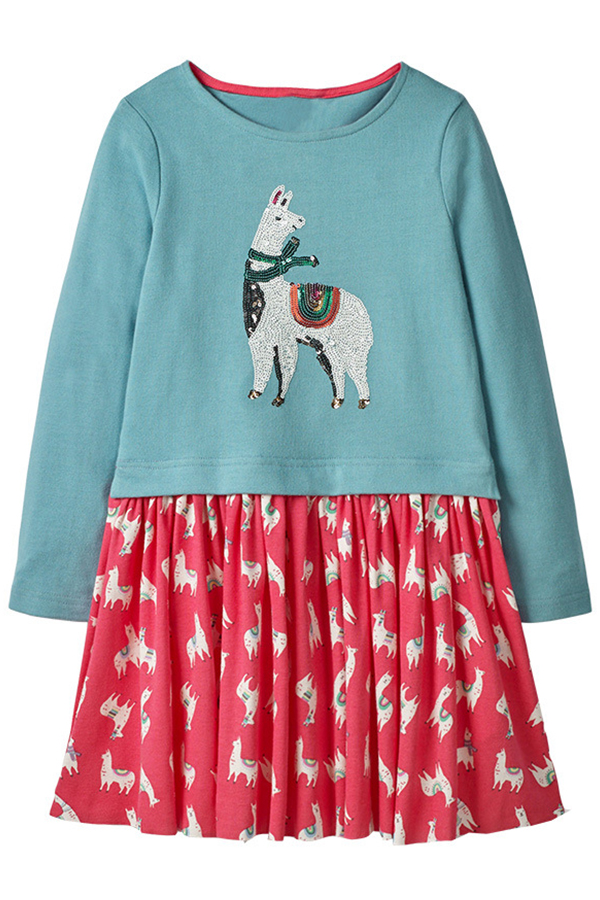 Lovely Christmas Day Light Green Knee Length Girls Dress