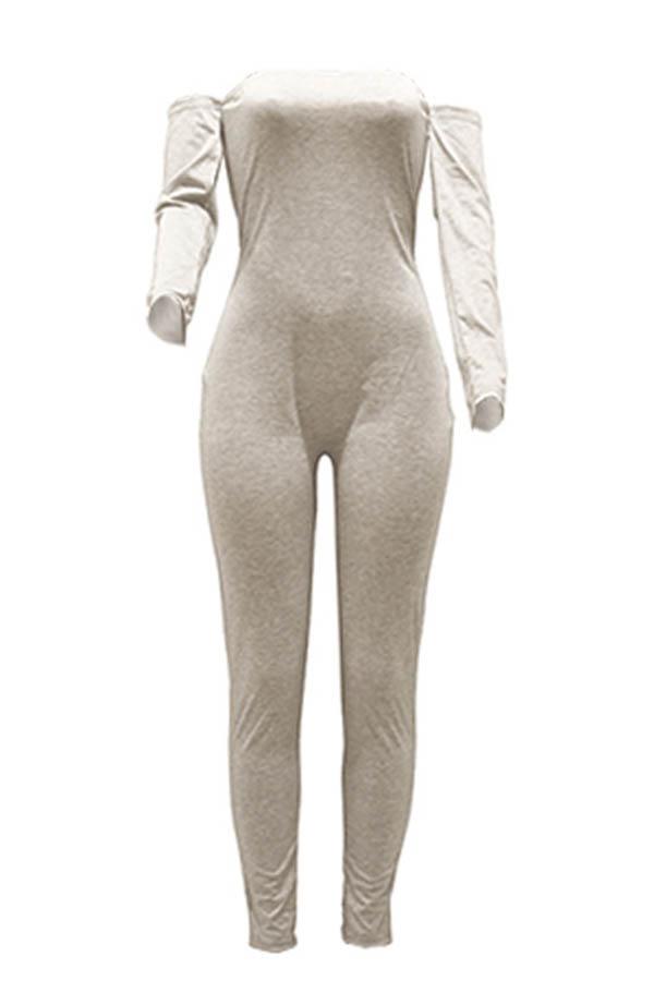 Lovely Trendy Skinny Grey One-piece Jumpsuit