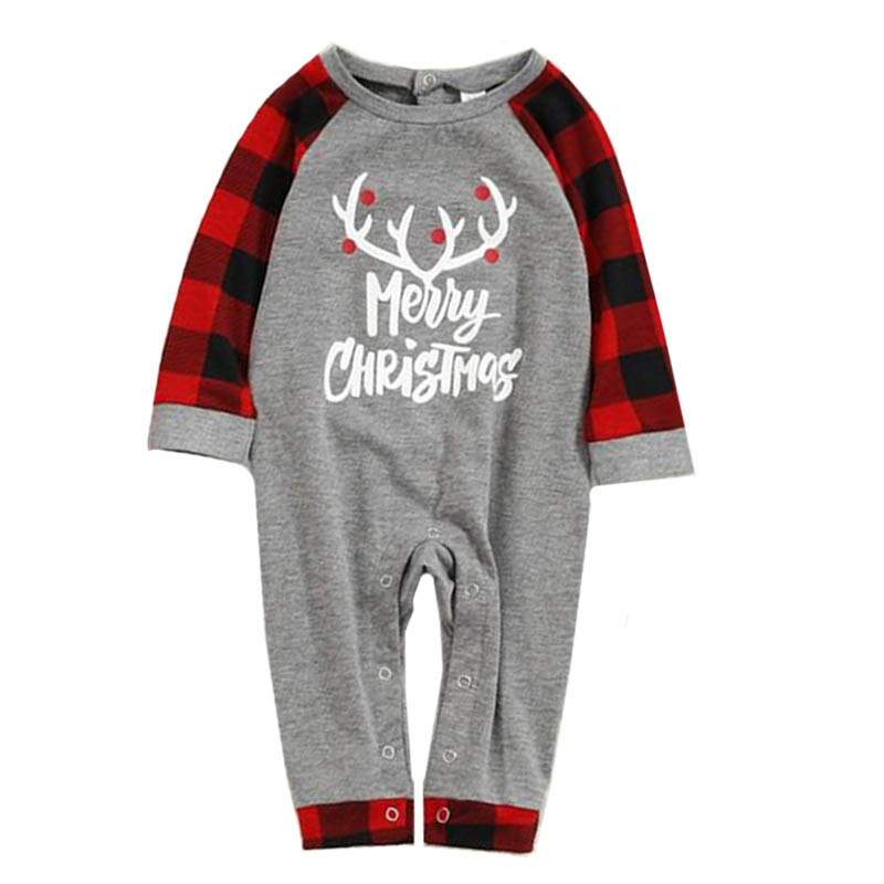 Lovely Family Letter Printed Red Baby One-piece Jumpsuit