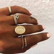 Lovely Vintage 6-piece Gold Metal Ring