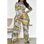 Lovely Casual Snakeskin Printed One-piece Jumpsuit