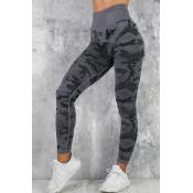 Lovely Sportswear Camouflage Printed Black Legging