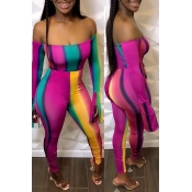 Lovely Sexy Striped Multicolor One-piece Jumpsuit