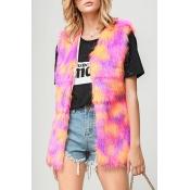 Lovely Casual Sleeveless Multicolor Vest