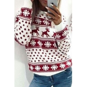 Lovely Christmas Day Printed Red Sweatshirt Hoodie