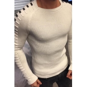 Lovely Casual Basic White Sweater