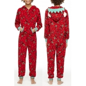 Lovely Family Plaid Printed Red Kids One-piece Jum