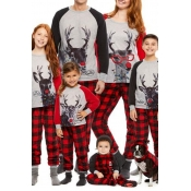 Lovely Family Printed Red Father Two-piece Pants S