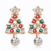 Lovely Christmas Day Gold Alloy Earring