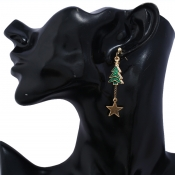 Lovely Christmas Day Gold Earring