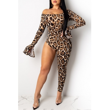 Lovely Sexy Leopard Printed One-piece Jumpsuit