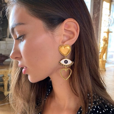 Lovely Chic Hollow-out Gold Earring