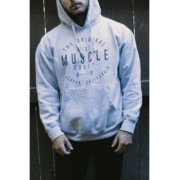 Lovely Casual Hooded Collar Letter Printed Grey Hoodie