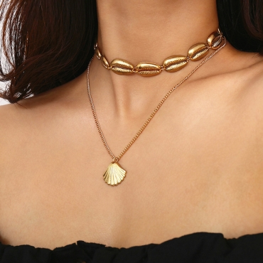 Lovely Sweet Alloy Gold Necklace