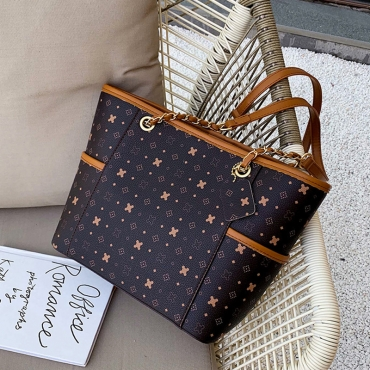 Lovely Chic Printed Coffee Messenger Bag
